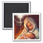 African American Madonna Christmas Magnets