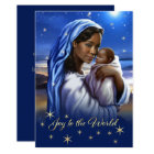 African American Madonna Flat Christmas Cards