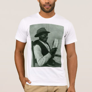 African-American Man Reading 'Harper's Ferry' T-Shirt