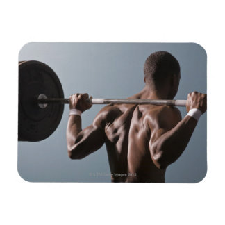 African American man working out the gym 2 Rectangular Photo Magnet