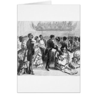 African American Military Ball Greeting Card
