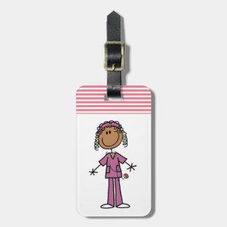 African American Nurse Luggage Tag
