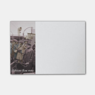 African American Nurses on Shipboard Post-it Notes
