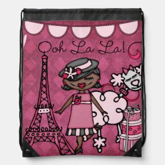 African American Ooh La La Diva Drawstring Bag