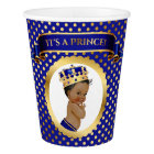 African American Prince Crown Royal Blue Gold Paper Cup