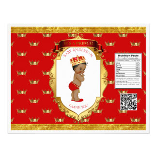 African American Prince Red Gold Chip Bag Wrapper