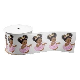 African American Princess Baby Shower Ribbon Satin Ribbon