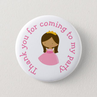 African American Princess thank you for coming 2 Inch Round Button