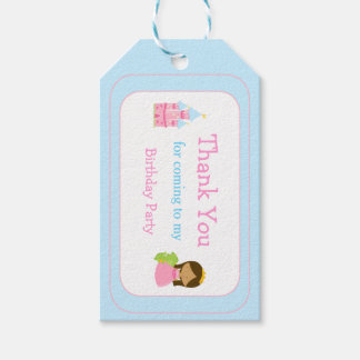 African American Princess Thank You Gift Tag