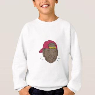 African-American Rapper Crying Drawing Sweatshirt