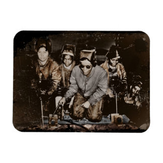 African American Rosie Riveters WWII Rectangular Photo Magnet
