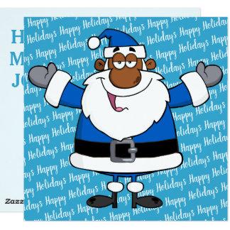 African American Santa Christmas Hanukkah Kwanzaa Card