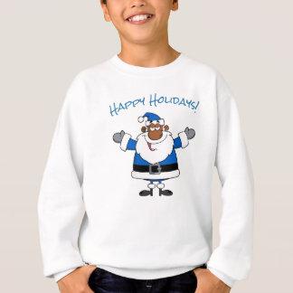 African American Santa Christmas Hanukkah Kwanzaa Sweatshirt