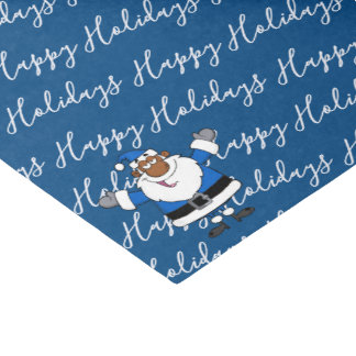 African American Santa Christmas Hanukkah Kwanzaa Tissue Paper