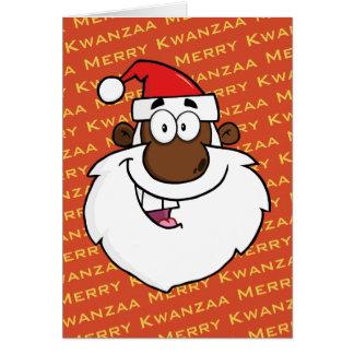 African American Santa Christmas Kwanzaa Greetings Card