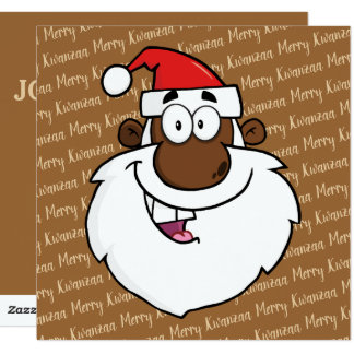 African American Santa Christmas Kwanzaa Greetings Card