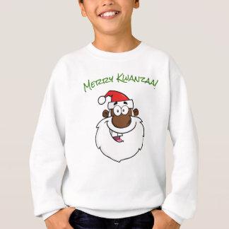 African American Santa Christmas Kwanzaa Greetings Sweatshirt