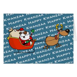 African American Santa Claus Kwanzaa Celebration Card