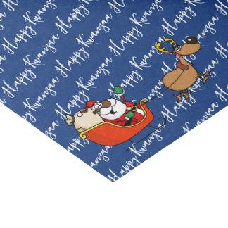 African American Santa Claus Kwanzaa Celebration Tissue Paper