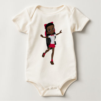 African american school girl t-shirt