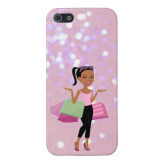 african american shopping woman iphone case