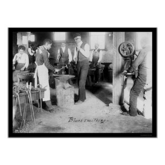 African American Students of Blacksmithing 1900 Poster