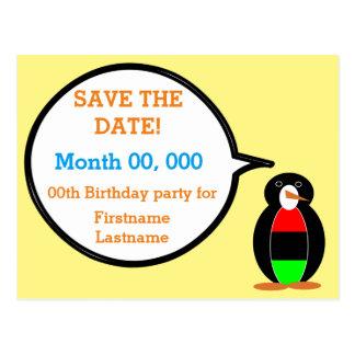 African American Talking Penguin Postcard