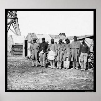 African American Teamsters 1864 Poster
