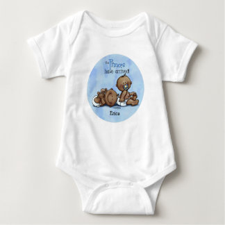 African American Twin Princes Baby Bodysuit