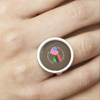 African American USA Country Heritage Photo Ring