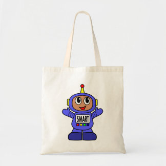 African American Whimsical Blue Robot Boy
