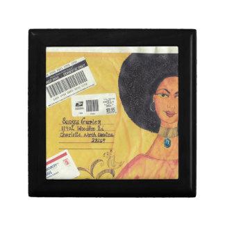 African American Women Envelope Jewelry Box