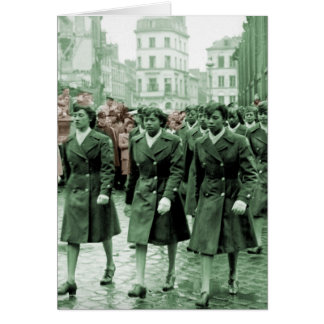 African American Women Marching Greeting Card