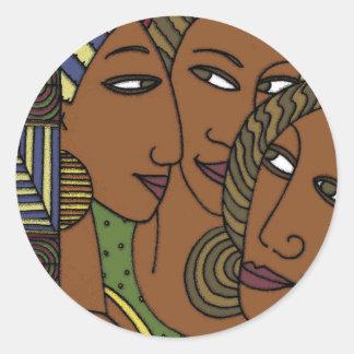 African American women sister friends Classic Round Sticker