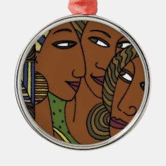 African American women sister friends Metal Ornament