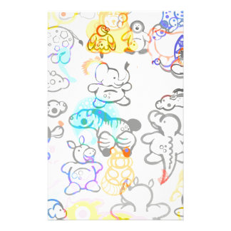 African and Asian Animals Stationery