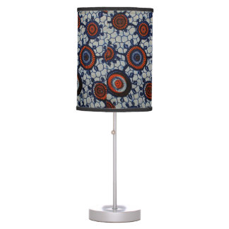 African And Fun Pattern Tripod Lamp