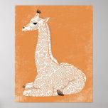 African Animal Series - Baby Giraffe Print