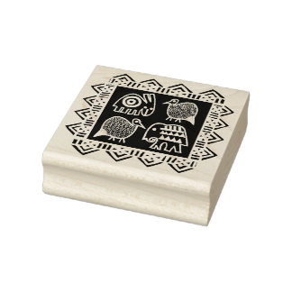 African Animal Spirits Design stamp
