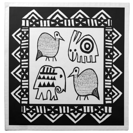 African Animal Spirits Printed Napkin