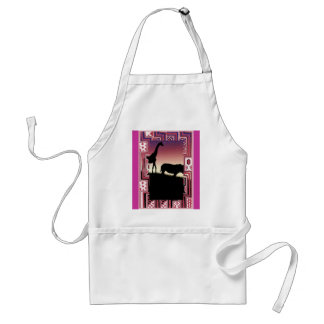 African animals 1 standard apron