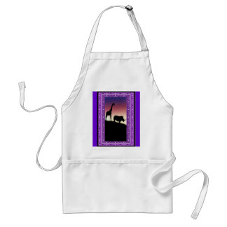 African animals 4 aprons