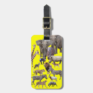 African Animals Bag Tag