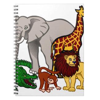 African Animals Notebook