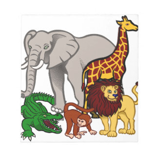 African Animals Notepad