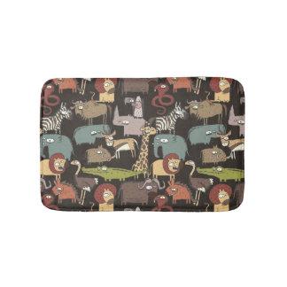 African Animals Pattern Bath Mat