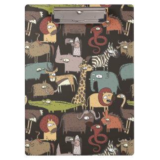African Animals Pattern Clipboard