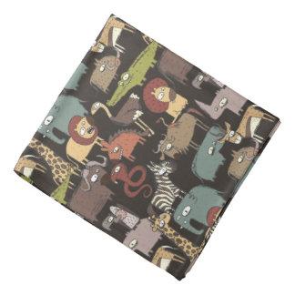 African Animals Pattern Kerchief