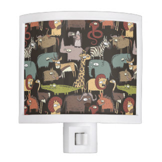 African Animals Pattern Nite Lights