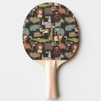 African Animals Pattern Ping Pong Paddle